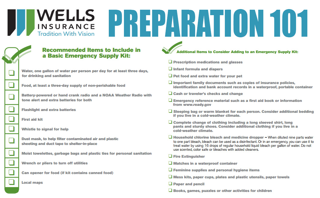 Free Download! –  Emergency Preparation Checklist