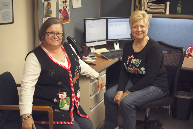 Teresa (Commercial Acct Mgr)  and Charlene (Commercial Asst Acct Mgr)