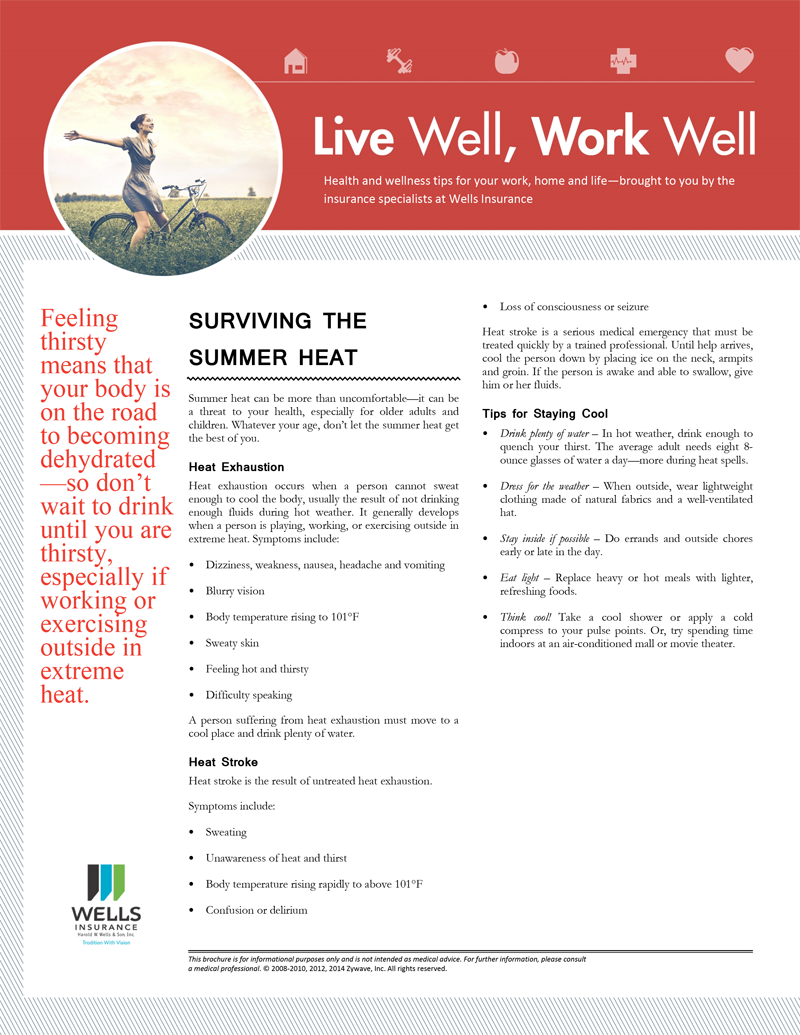 surviving the summer heat newsletter
