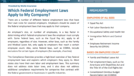 Which Federal Employment Laws Apply to My Company?