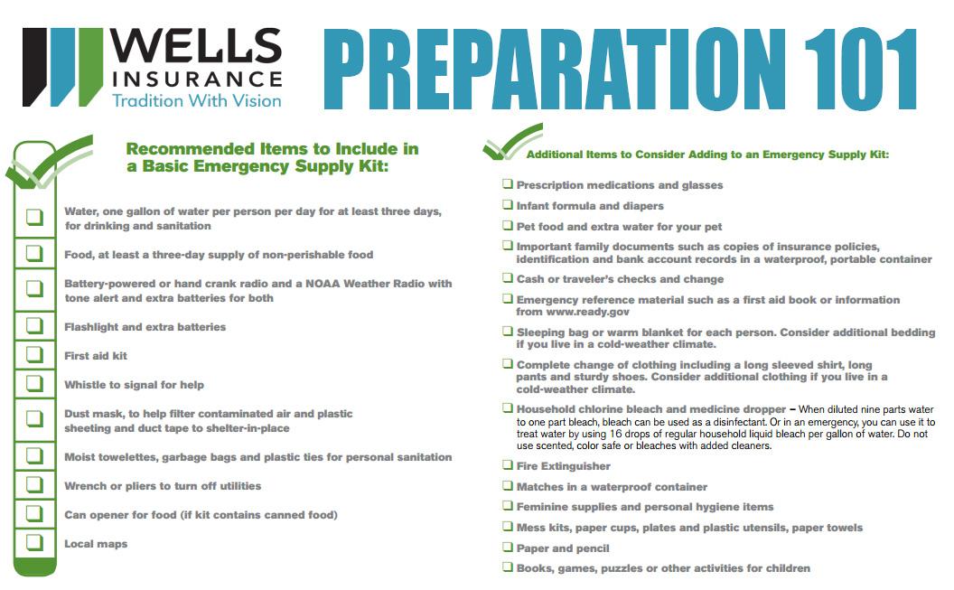 Free Download! –  Emergency Preparation Checklist