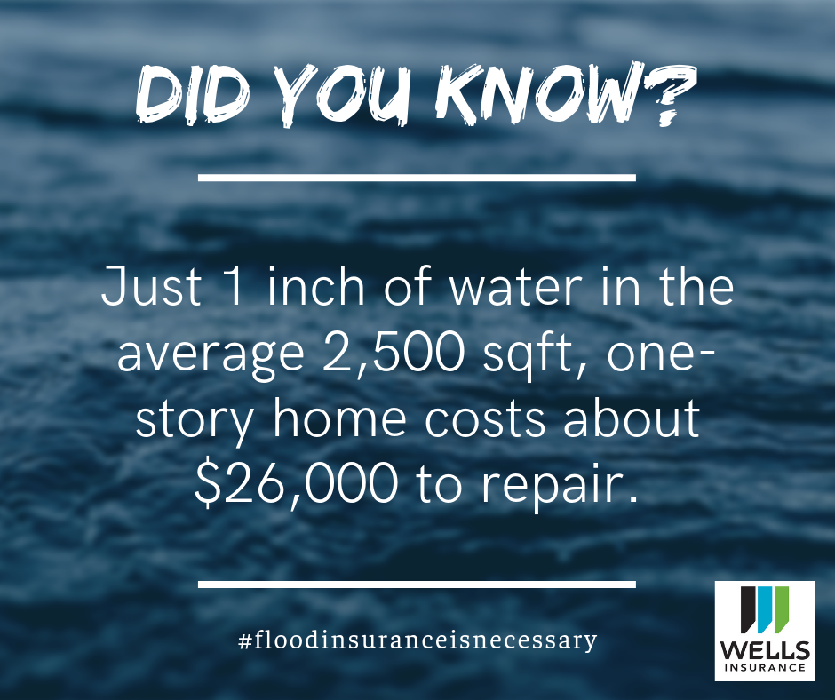 Just one inch of water in the average home costs about $26,000 to repair