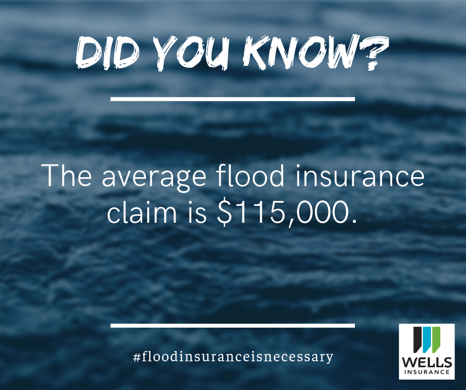 The average flood insurance claim is $115,000