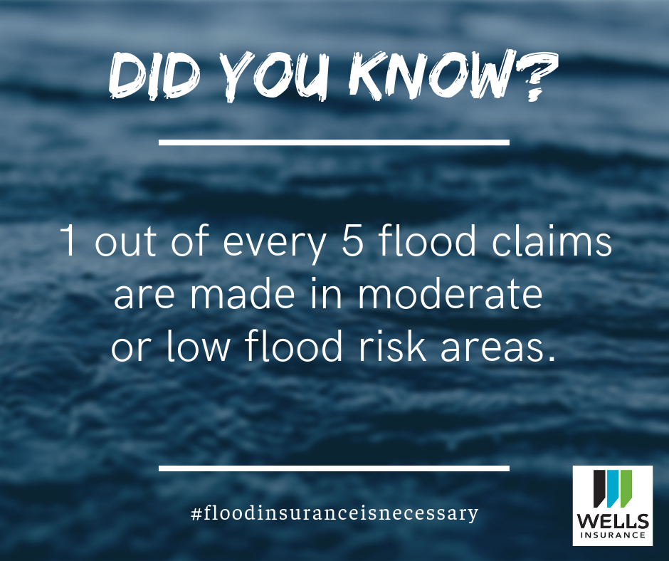 one out of every five flood claims are made i moderate or low flood risk areas