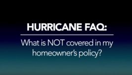 What is NOT covered in my homeowner's policy?