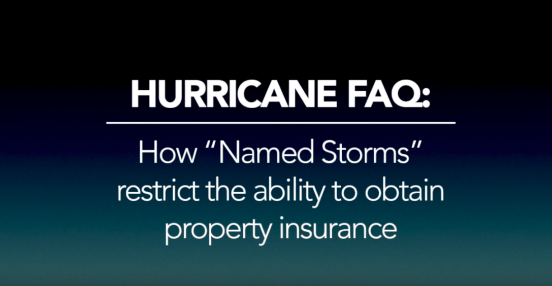 How storms in the Atlantic affect our ability to bind insurance policies.