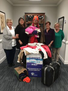 Wells Insurance collecting winter clothes for a local charity