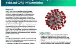 Coronavirus- Community Mitigation Strategy
