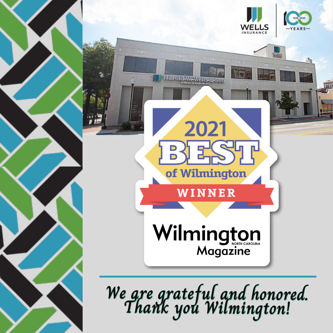 """Wells Insurance Voted """"Best Insurance Provider"""" by Wilmington Community!"""